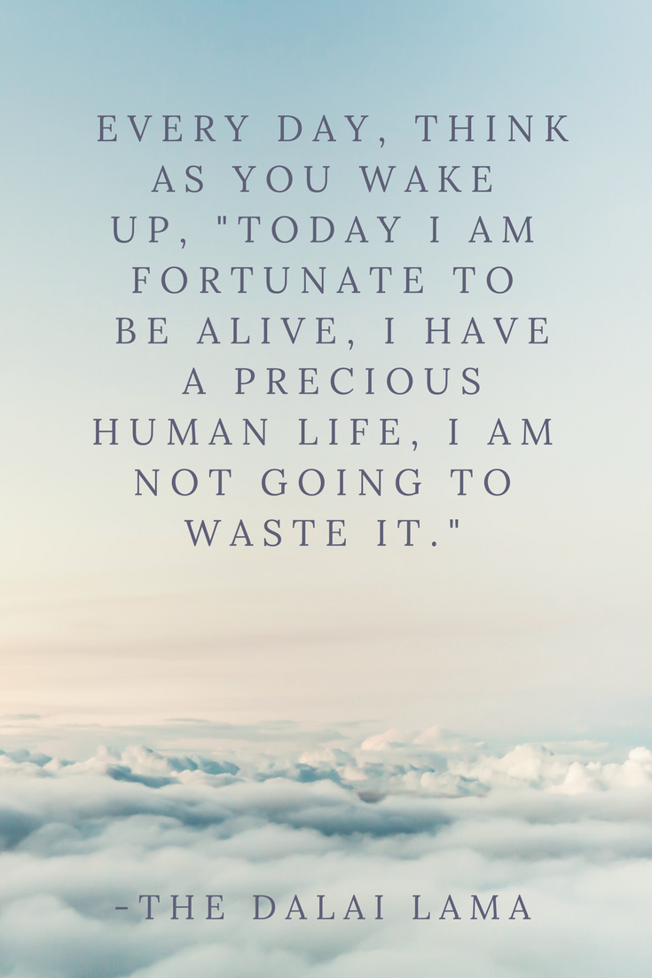 Dalai Lama Quote Every Day As You Wake Up