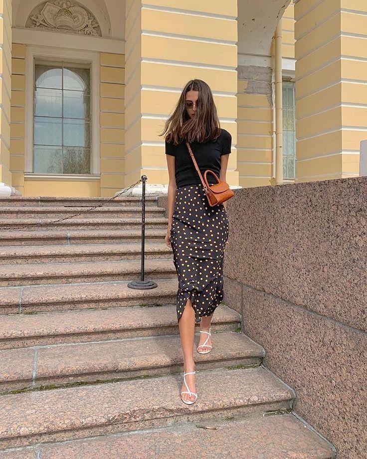 Natural Slip silk skirt polka dot print real silk slip midi a-line skirt skirt bias cut slip skirt t