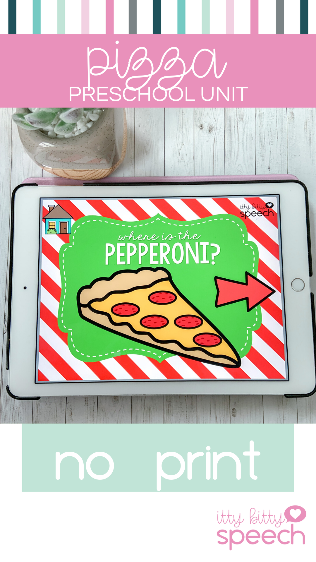 Pizza No Print Preschool Language Unit Distance Learning