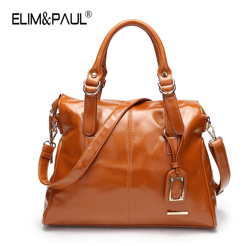 338b0b7d15 ELIM PAUL Fashion Women Messenger Bags PU Leather Women s Shoulder Bag  Crossbody Bags Casual Famous Brand Popular