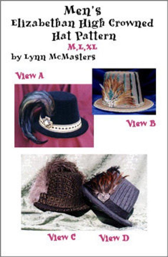 0e6c82eadd9 MC01 - Men s Elizabethan High Crowned Hat Sewing Pattern by Lynn McMasters