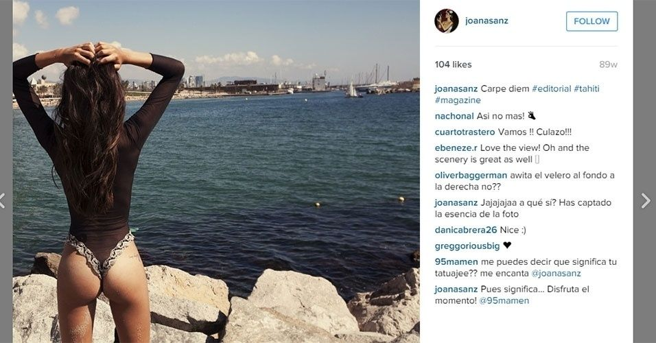 Joana Sanz é modelo e tem affair com Daniel Alves