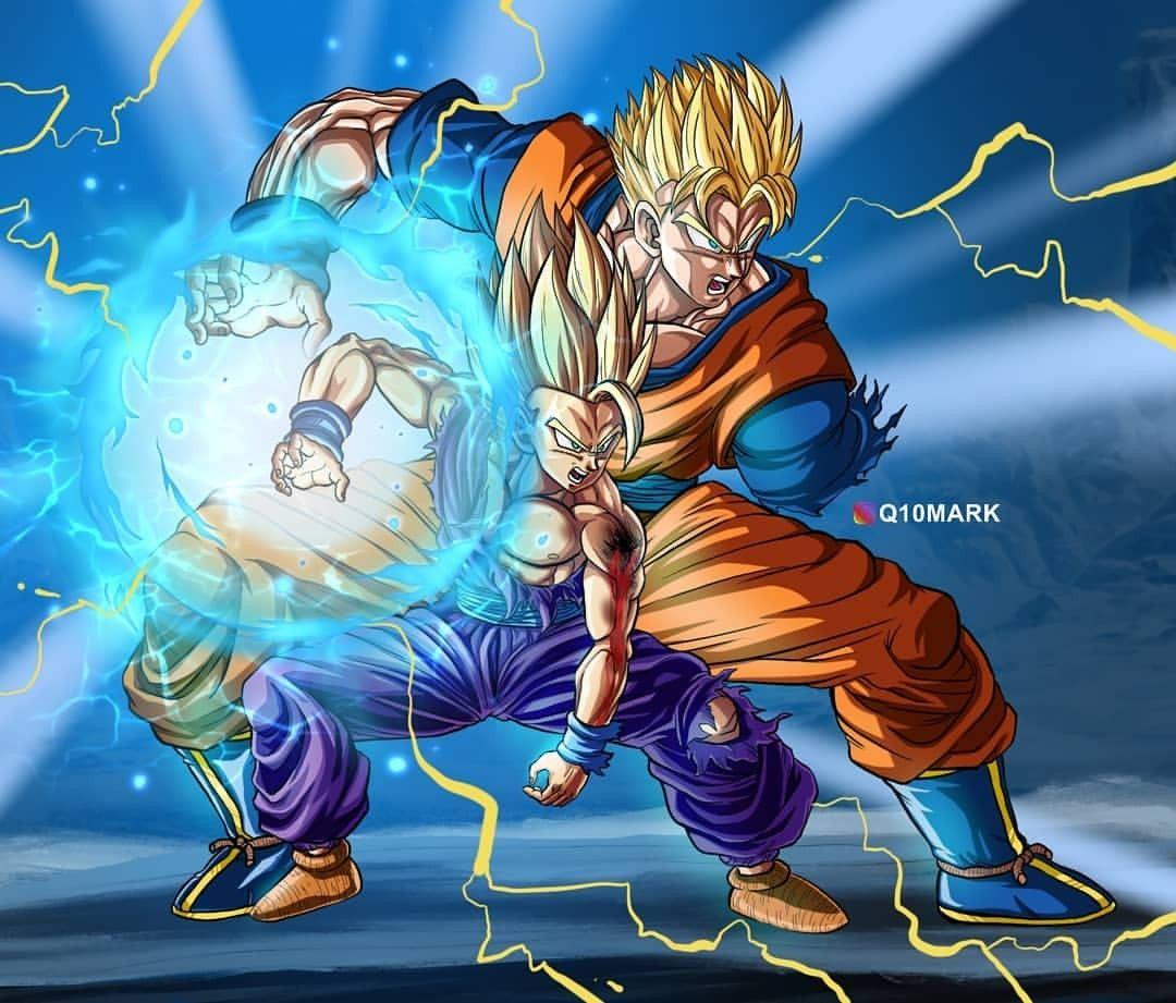 Gohan Present And Future Kamehameha Anime Dragon Ball Super Dragon Ball Super Manga Dragon Ball Super Goku