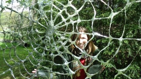Halloween at Erddig 27th Oct free entry for fancy dress.  Spider web in erddig garden