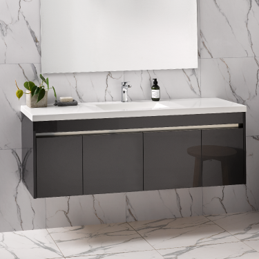 Wave Alumino 1500sb Wall Exochique Graphite Rrp 3650 Vanity Cabinet Colors Handle Cabinet