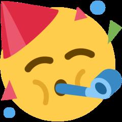Partying Face On Twitter Twemoji 11 1 Party Horns Emoji Hat Emoji