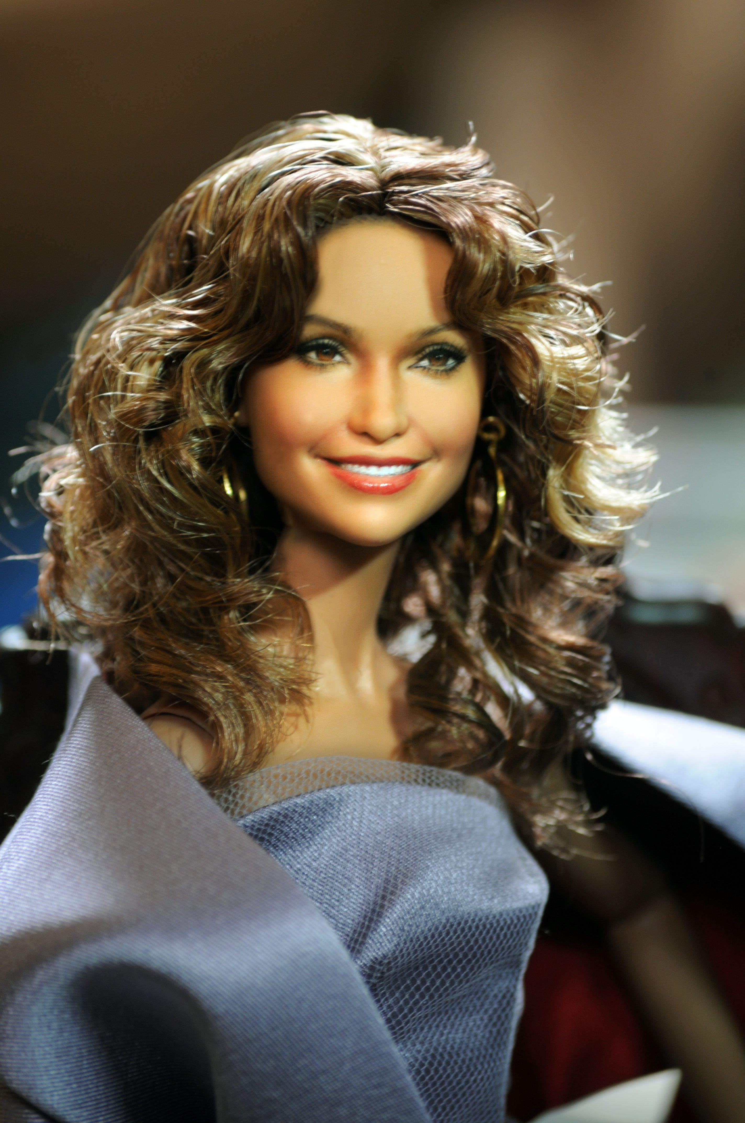 mattel barbie of jennifer lopez  world tour doll  as repainted and restyled by noel cruz of