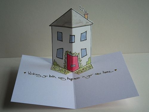 New Home Pop Up Drawing New Home Cards Pop Up Book Pop Up Cards