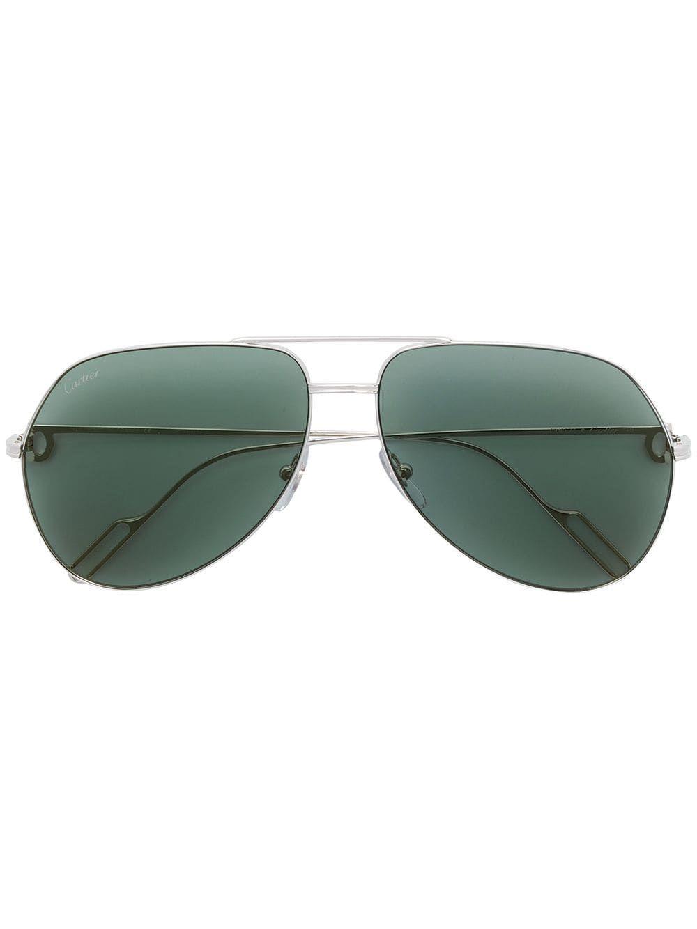Cartier Eyewear aviator shaped sunglasses – SILVER