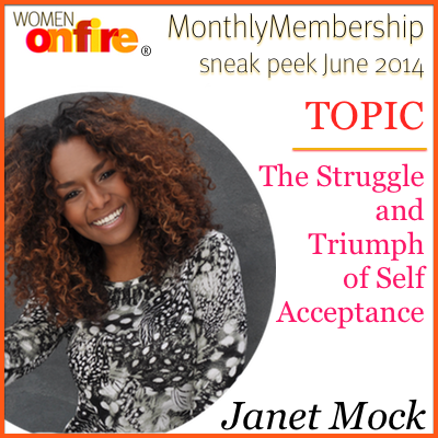Check out the inspirational, New York Times best-selling author, journalist and activist Janet Mock in next month's Women on Fire monthly membership package! Inspirational interview with an inspirational woman. #womenonfire