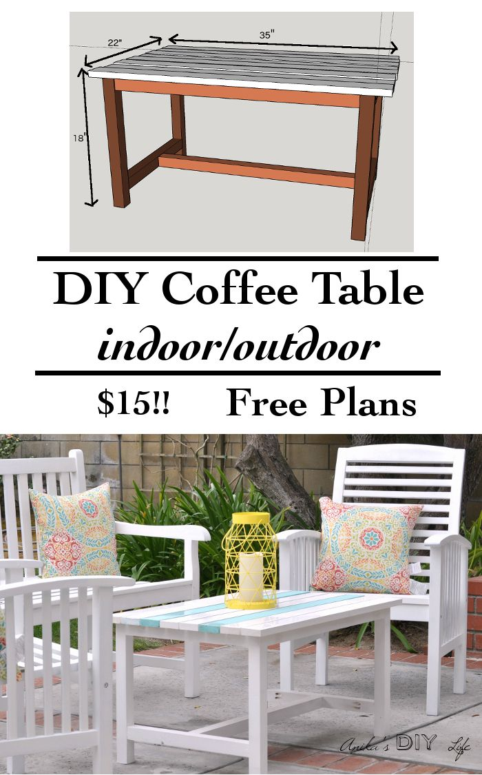 DIY Outdoor Coffee Table - Anika's DIY Life