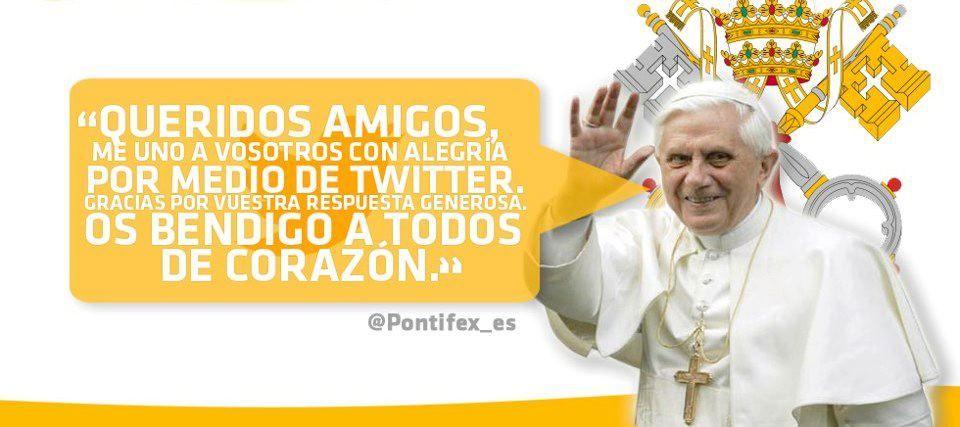 Primer Tuit del Papa Benedicto XVI en español @pontifex_es
