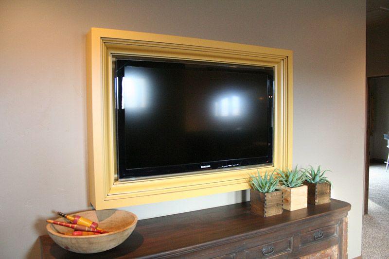 DIY TV Frame: Disguise that Flat Screen | Reciclado, Hogar y Para el ...
