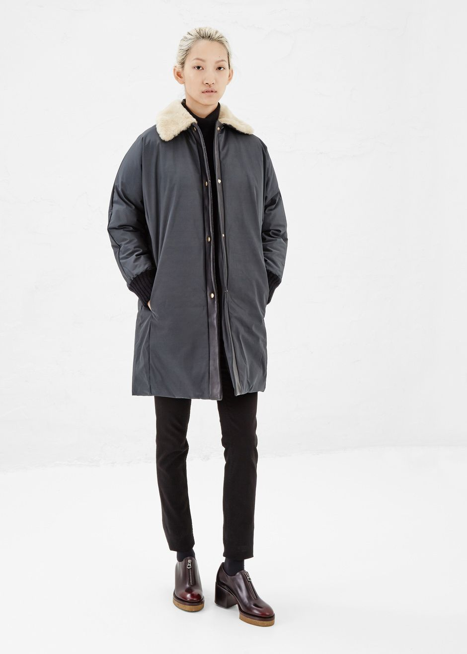 Marni Shearling Collar Coat (Teal) | Autumn//Winter | Pinterest ...