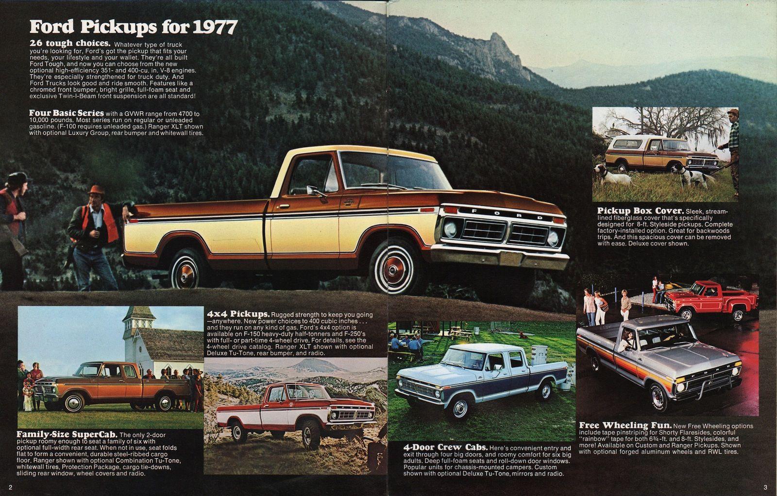 1977 pickup ford truck sales brochure