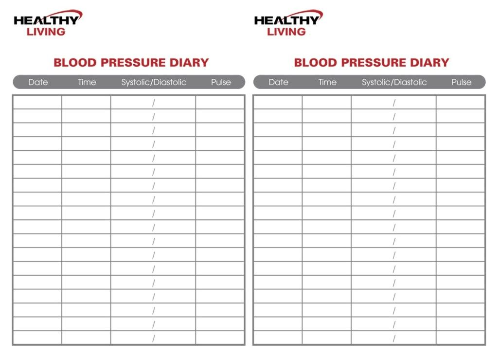 Chart For Recording Blood Pressure Readings Juvecenitdelacabrera