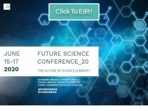 Facebook post science conference FB header announcement science