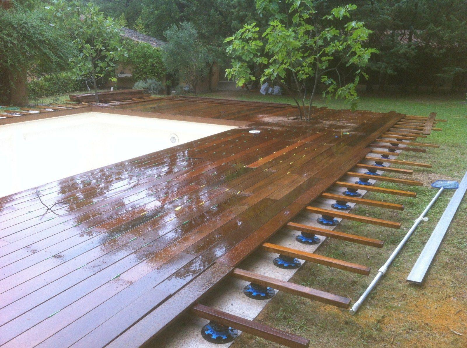 aménagement tour de piscine en ipe à aix en provence bouche du rhone ...