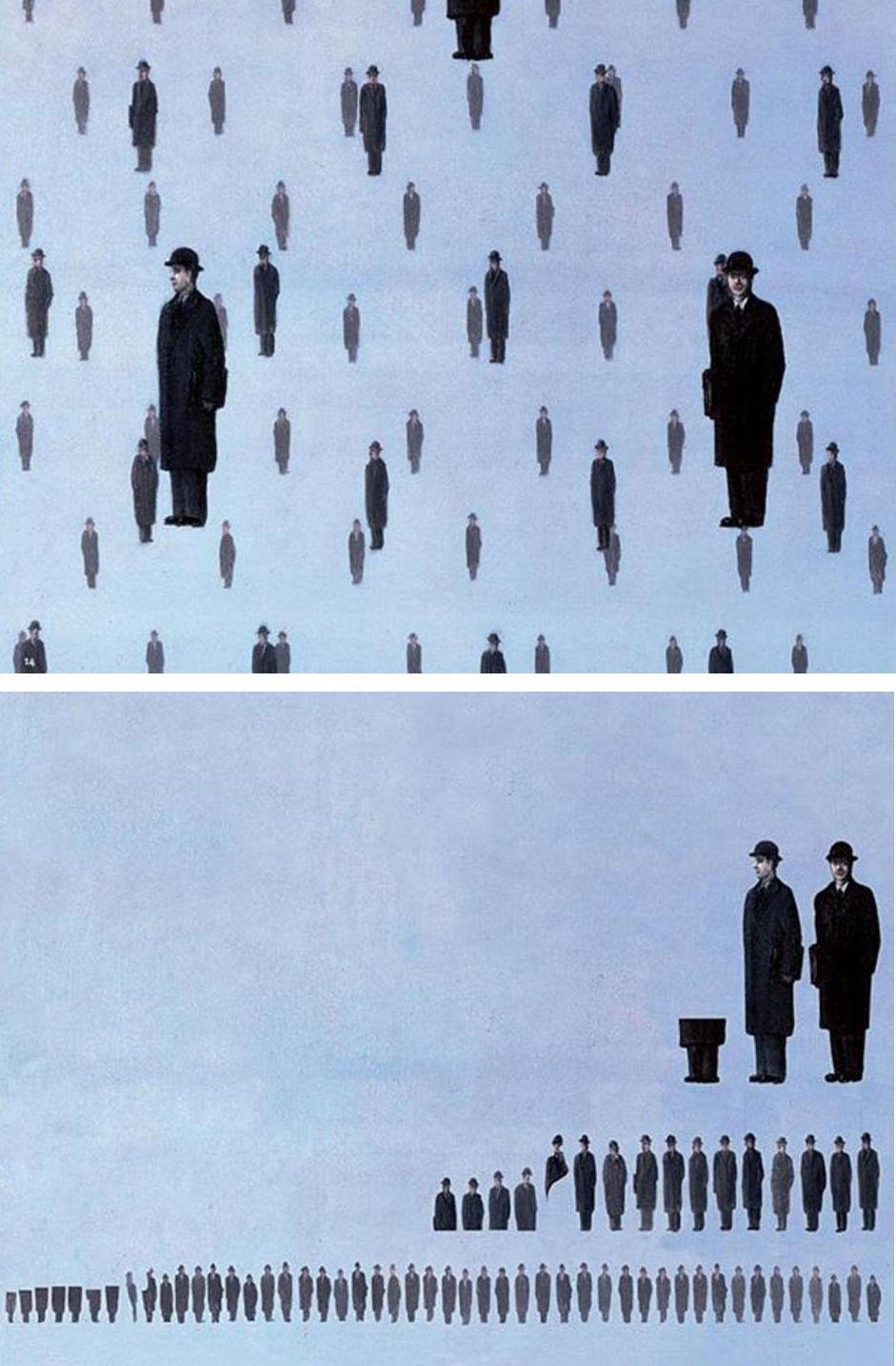 "Ursus Wehrli Tidying Up Art René Magritte ""Golconda"""