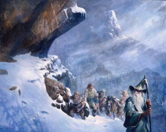 Crossing Caradhras | Tolkien artwork, Middle earth art, Tolkien