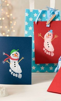 Marabu_Schneemaenner_Grusskarten_mara_Fingerfarbe_Decormatt_Acryl #weihnachtsbastelnmitkindernunter3