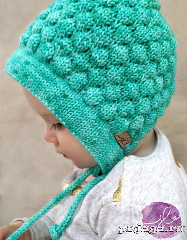 шапочка чепчик спицами для малыша пинетки чепчики вязание
