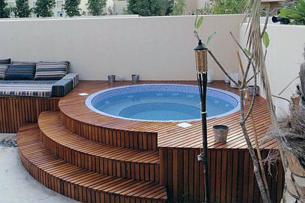Top 80 Best Hot Tub Deck Ideas - Relaxing Backyard Designs #hottubdeck