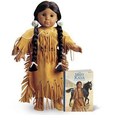 Kaya American Girl Doll Retired Adorned Deerskin Dress ONLY