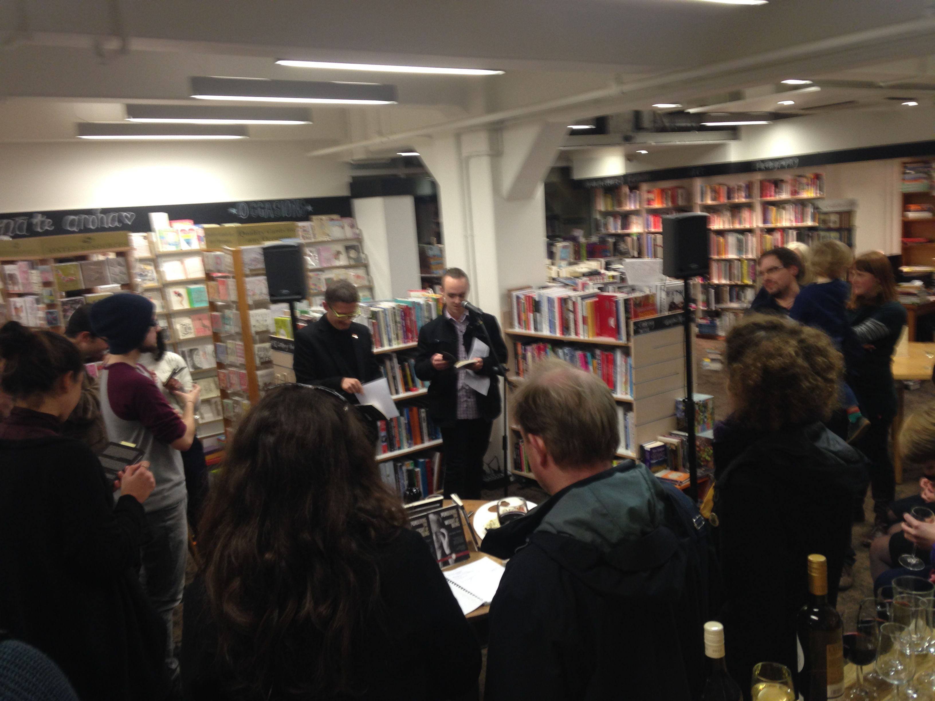 The new translation of Pondering the Weight of Being launched at Vic Books Kelburn 30th July, 2015.