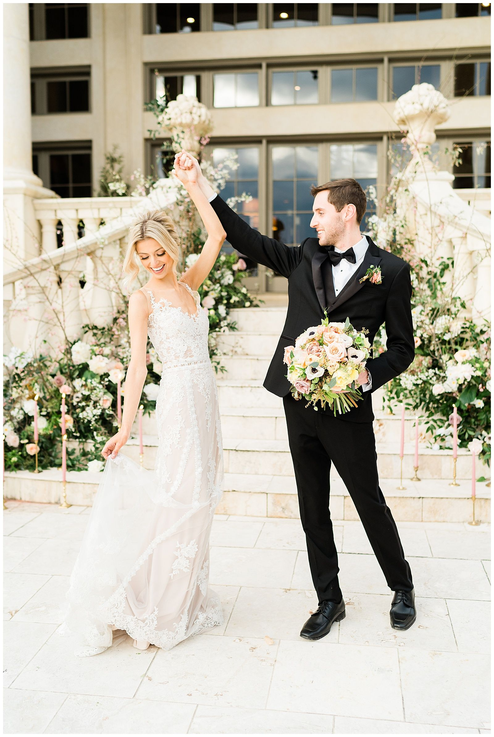 European Style Wedding Grand Staircase Lace Wedding Dress Wedding European Fashion Wedding Dresses Lace