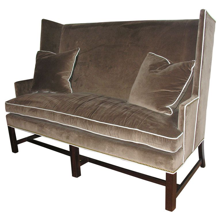 Wonderful Dining Room Benches With Backs: Hickory Chair, Settee