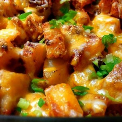 Potatoes with Bacon and CheeseRoasted Potatoes with Bacon and Cheese Get ready for some ultimate c