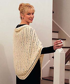 This project is the perfect introduction to the wonderful world of lace knitting. (Lion Brand Yarn)