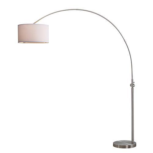 Safavieh Ascella 86 Quot Arc Floor Lamp Nickel Arc Floor