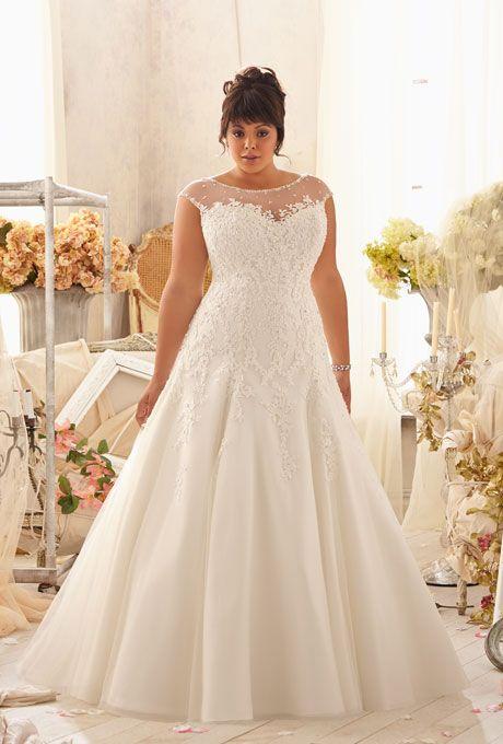27 Designer Plus Size Wedding Dresses | Mori lee wedding dresses ...