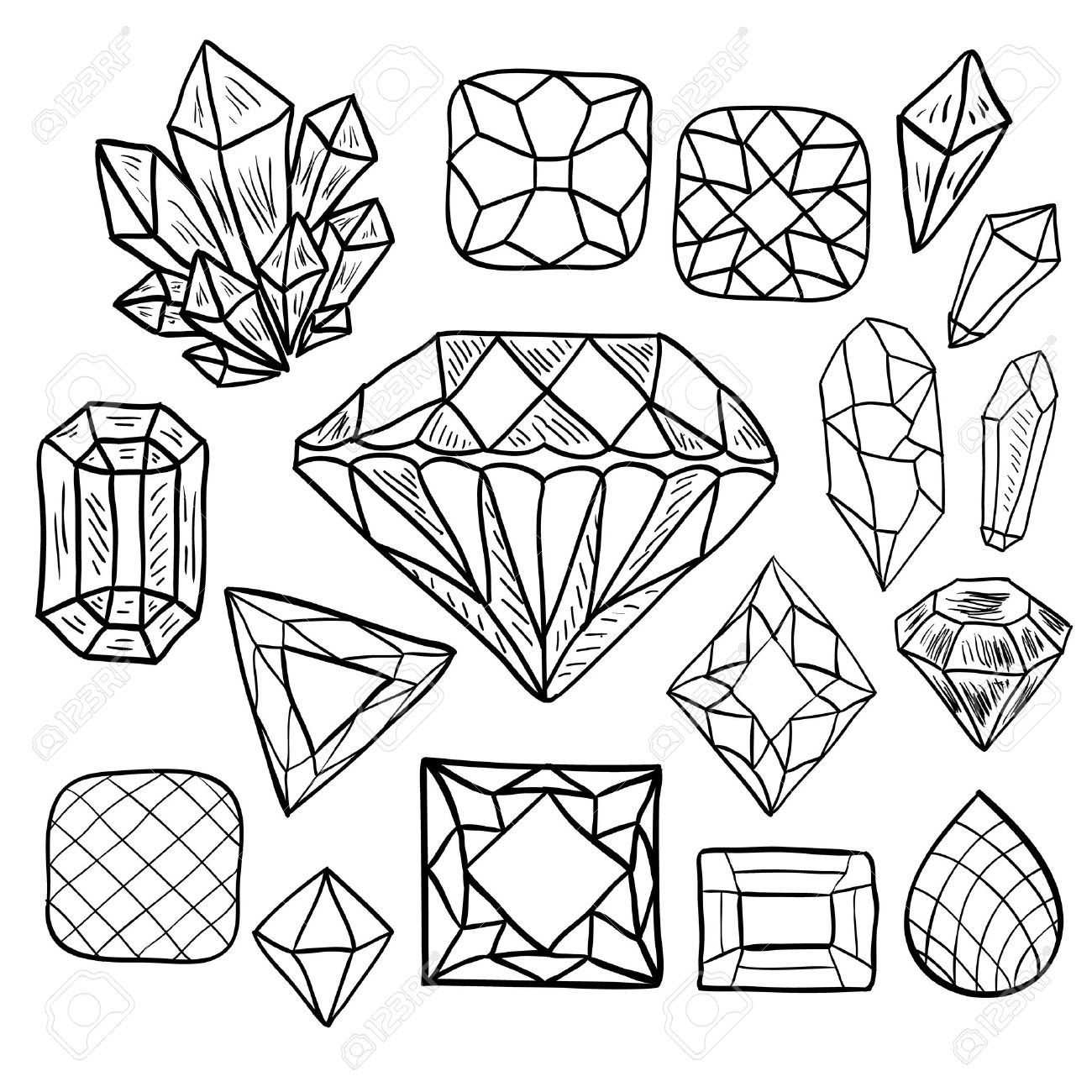 Pin By Elisabeth Quisenberry On Doodles And Mandalas How To Draw Hands Crystal Drawing Shape Coloring Pages