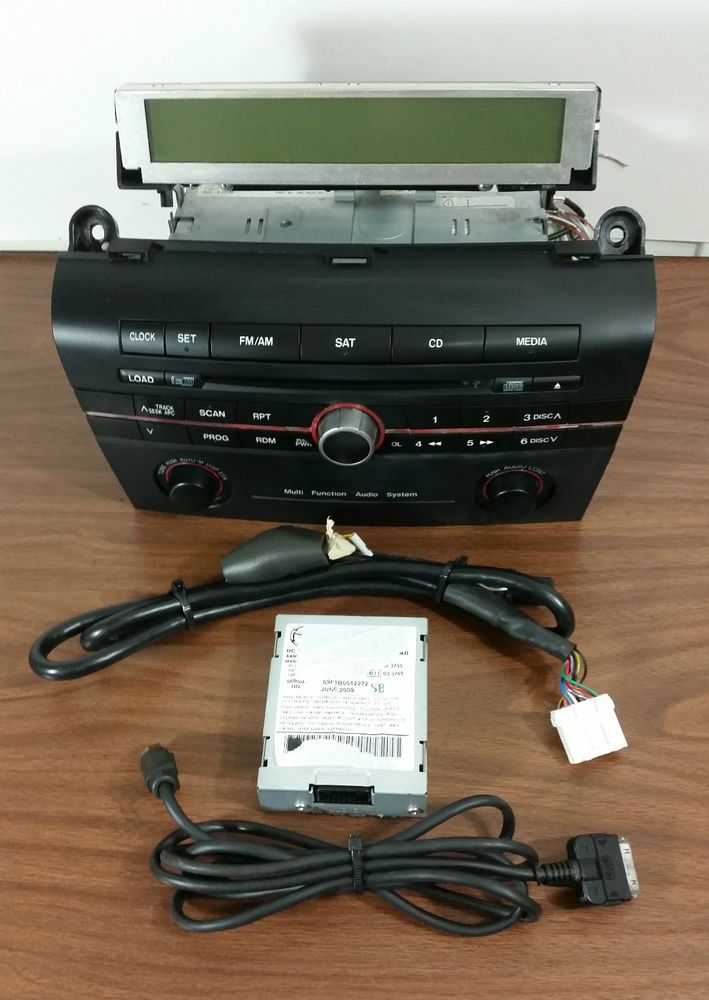 0609 Oem Mazda 3 Sat Radio 6 Disc Changer Cd Player Wipod Module Rhpinterest: Mazda 3 Radio Display At Gmaili.net