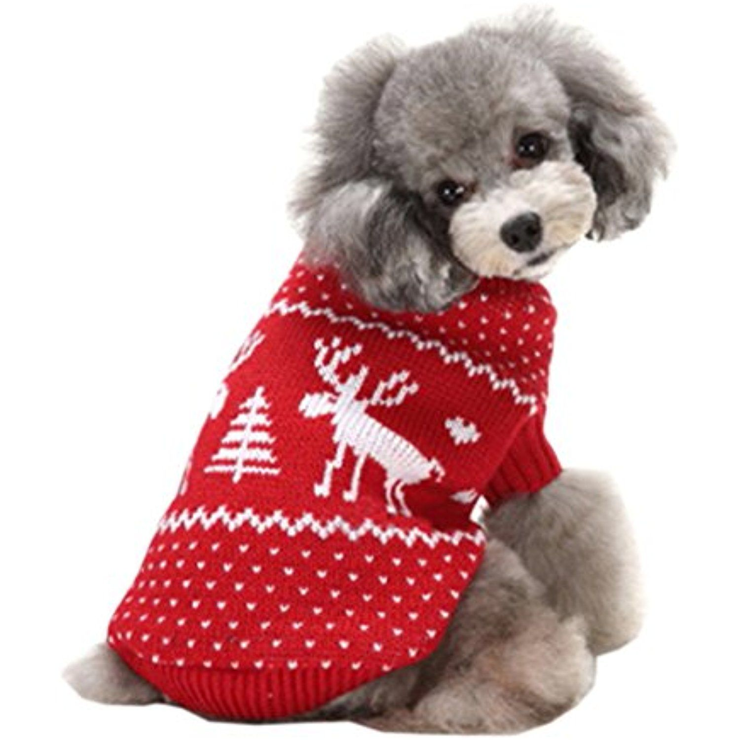 Pets Christmas Sweater, Yuntown Small Dogs Pattern Knitted Jumper ...