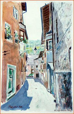 L'acquerello: un mondo di colori - Via Tintori in Chiusa by L.Spagnolo