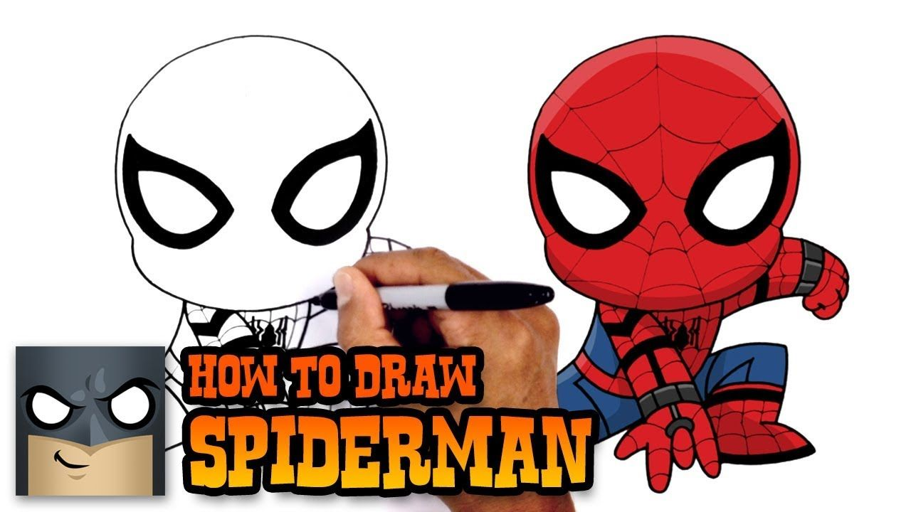 Learn How To Draw Spiderman From Spiderman Homecoming Watch More Drawing Lessons By Visiting Ou Spiderman Drawing Marvel Drawings Spiderman Homecoming Drawing
