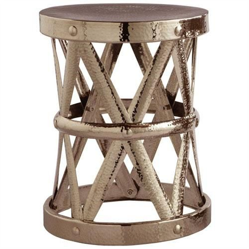 Costello Accent Table, Polished Nickel