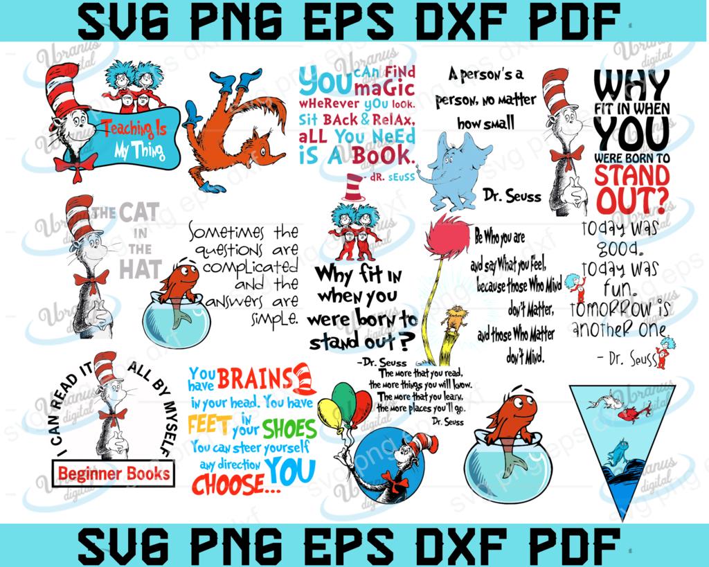 Ghim trên Dr Seuss SVGs