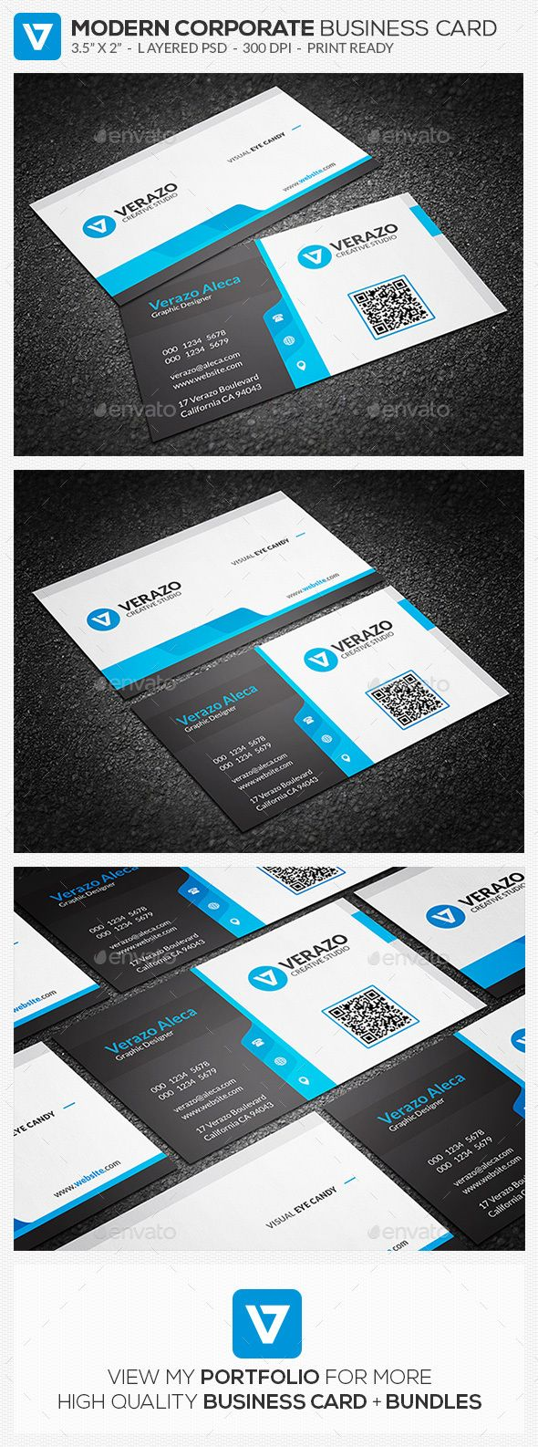 Creative Modern Corporate Business Card Template Corporate - Buy business card template