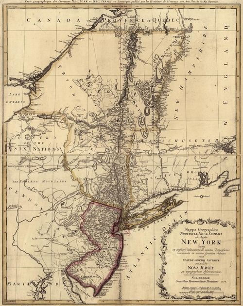 New York Colony Map An original 1778 Map of the Colony of New York. | Ephemera | New  New York Colony Map