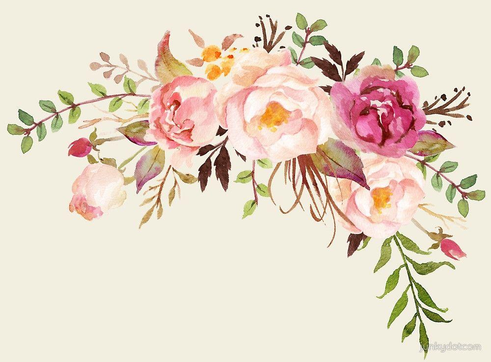 Romantic Watercolor Flower Bouquet  - sticker Nov 29
