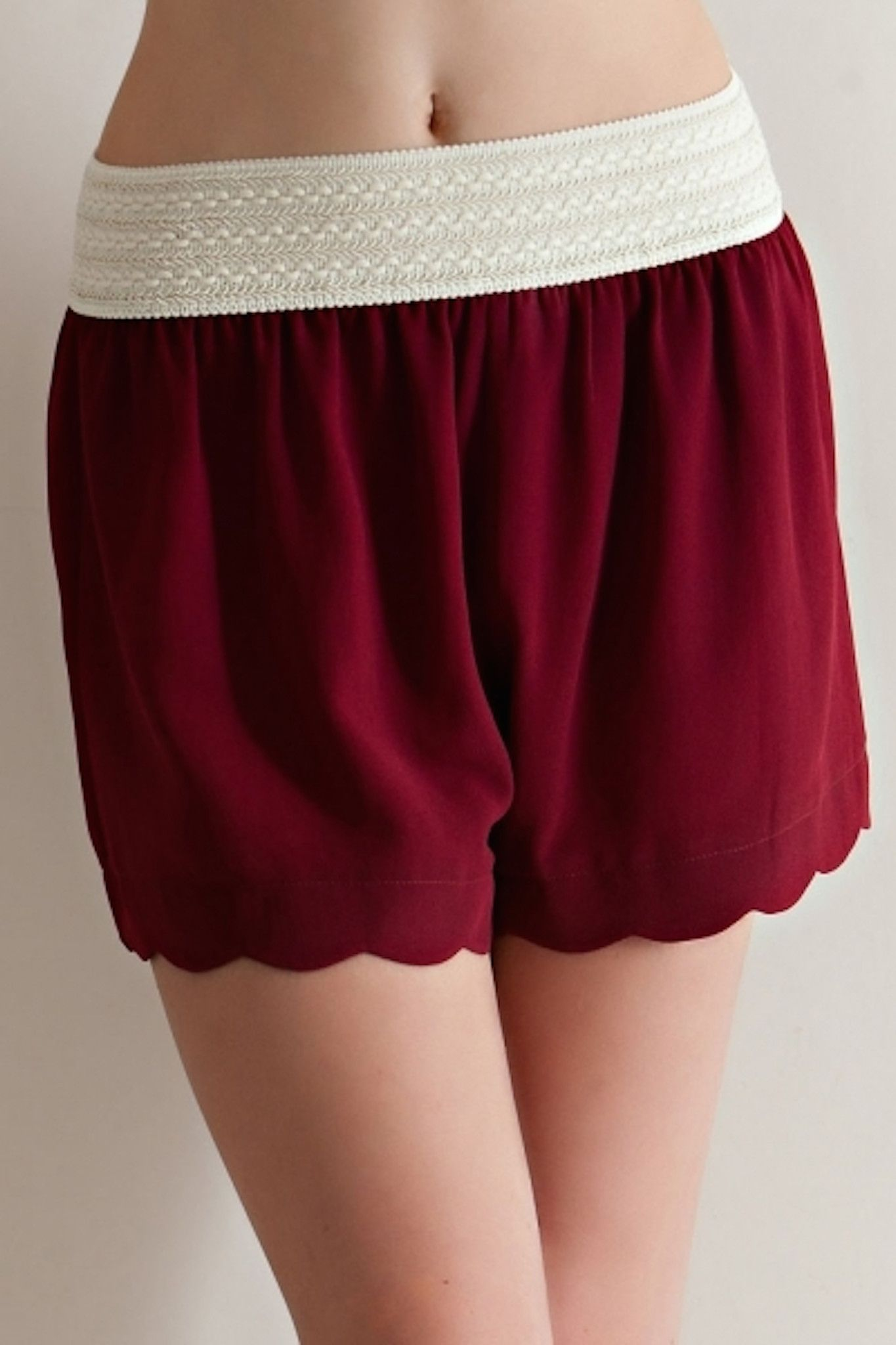 Entro Women's Flowy Chiffon Elastic Lace Shorts