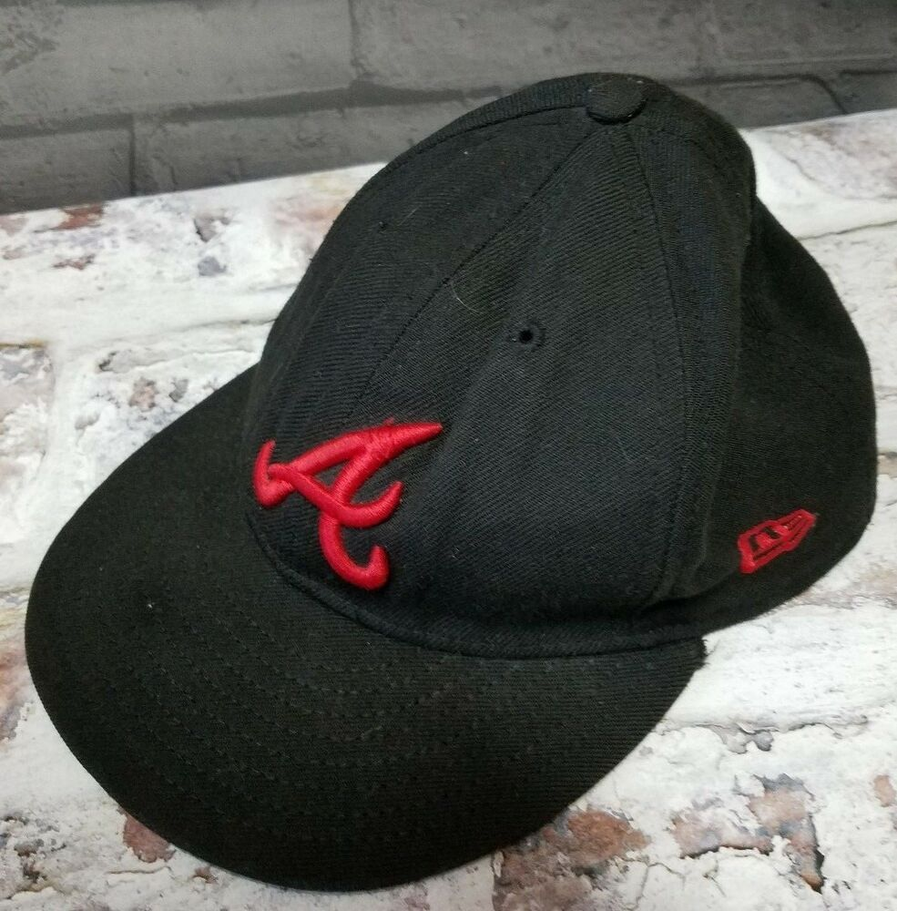 New Era Atlanta Braves Fitted Hat 59fifty Mlb Cap Sz 7 Black Newera Atlantabraves Fitted Hats Atlanta Braves New Era 59fifty