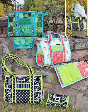 Baby Sister Purse Pattern in PDF by WhistlePig Creek Productions - Smaller version of the popular Sweet Retreat bag pattern with optional instructions for Jelly Rolls and a bonus wallet pattern!