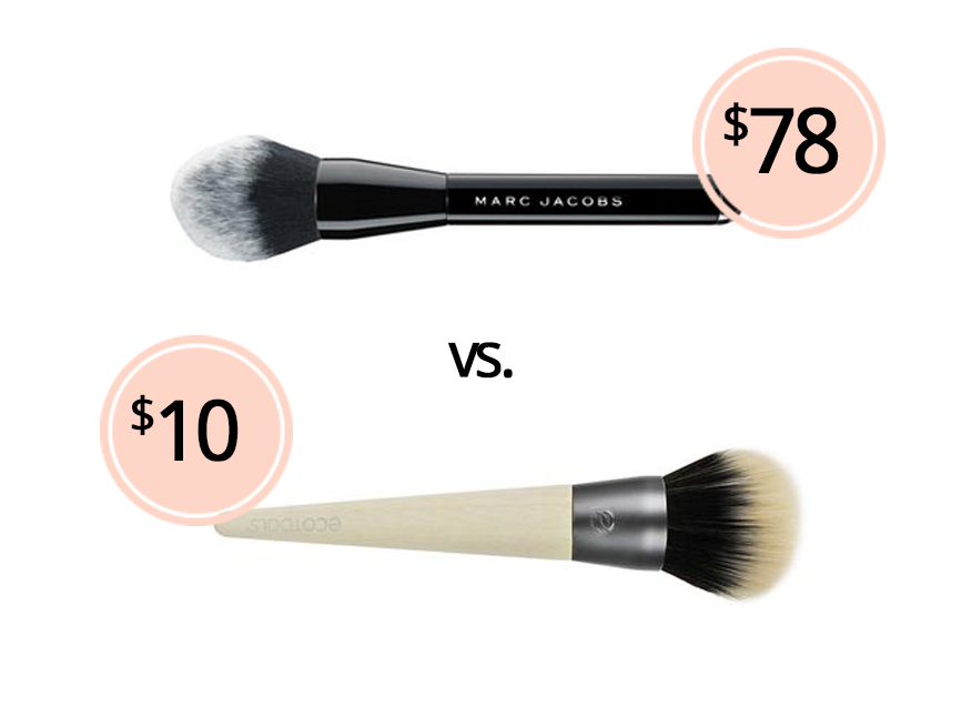 8cc7a46b1678 Bronzer Brush Dupe: Marc Jacobs The Bronzer Brush vs. Ecotools ...