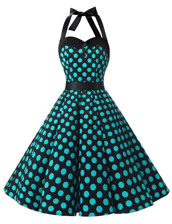 Dressystar Vintage Polka Dot Retro Cocktail Prom Dresses 50\'s 60\'s ...